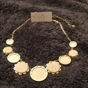 Kate Spade ♠️ white and gold tone necklace